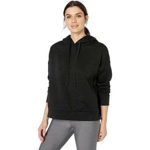 Alo Yoga Black Vaunt Split Side Logo Hoodie